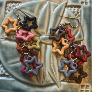 Rainbow Stars Jingle Jangle Earrings